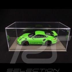 Vitrine 1/18 pour miniature Porsche Base simili cuir gris qualité premium
