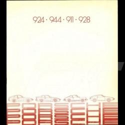 Brochure Porsche Gamme 924 944 911 928 1982 en français WVK121430