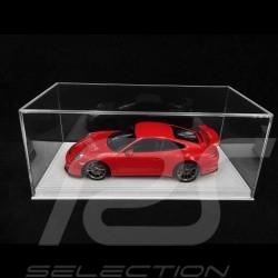 Vitrine 1/18 pour miniature Porsche Base Alcantara Beige clair qualité premium