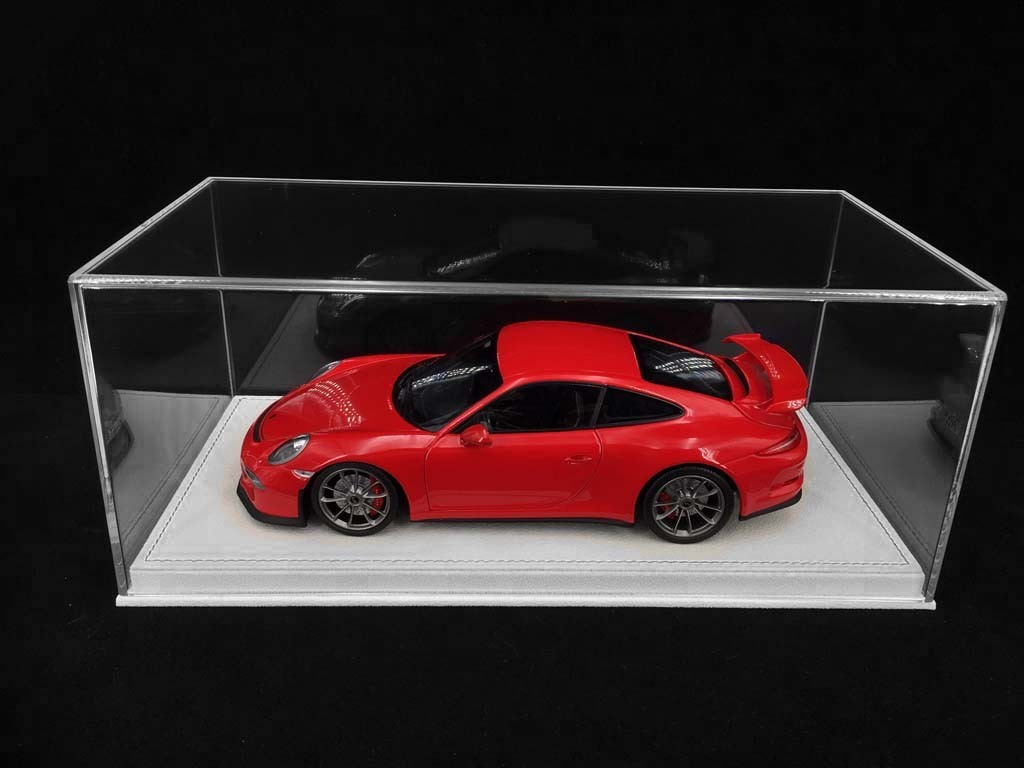 1 18 Showcase For Porsche Model Light Beige Alcantara Base Premium Quality Selection Rs