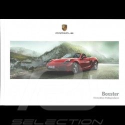 Porsche Brochure Boxster Déclaration d'indépendance 03/2014 in french WSLB1501000230