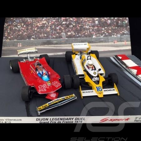 Duo Ferrari 312 T4 and Renault RS12 F1 Grand Prix Dijon 1979 1/43 Brumm AS58B
