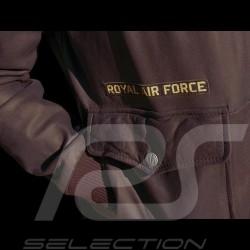 Royal Air Force Leather jacket Aviator style Britten Dark brown - men