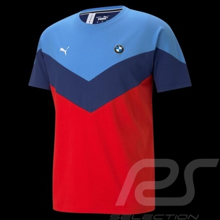 BMW M Motorsport T-shirt by Puma MMS MCS Blue / red - Men