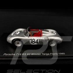 Porsche 718 RS 60 n° 184 Winner Targa Florio 1960 1/43 Spark 43TF60
