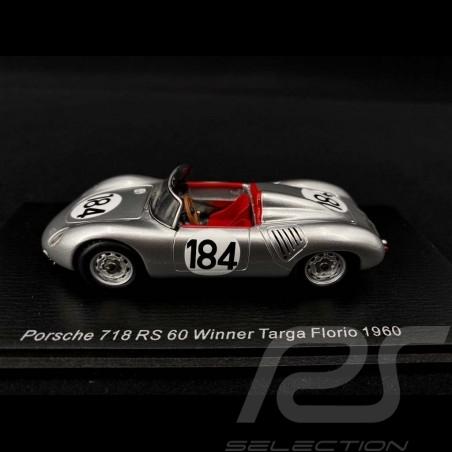Porsche 718 RS 60 n° 184 Vainqueur Winner Sieger Targa Florio 1960 1/43 Spark 43TF60