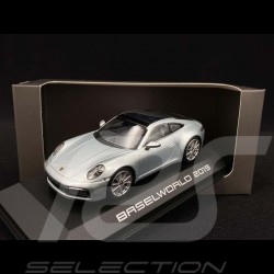 Porsche 911 Carrera S type 992 Baselworld 2019 gris dolomite silver dolomitsilber 1/43 Minichamps 4046901233648