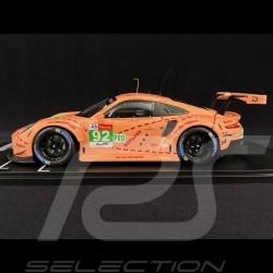 Porsche 911 GT3 RSR Vainqueur 24h du Mans N° 92 cochon rose 1/18 IXO Models LEGT18003