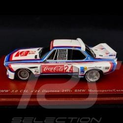 BMW 3.0 CSL BMW Motorsports  n° 24 Coca-Cola 24H Daytona 1976 1/43 True Scale TSM114347