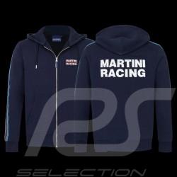 Martini Racing Team Jacke Stripes mit Kapuze Premium Hoodie Marineblau