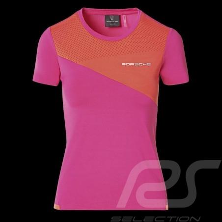 T-shirt Porsche Sport Collection Rose / Orange WAP539M0SP - femme