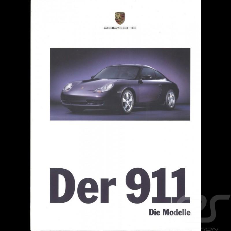 Porsche Brochure Der 911 type 996 die modelle 09/1998 in german WVK15601099
