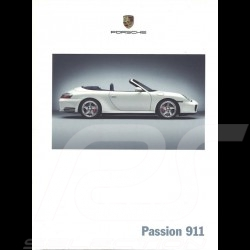 Porsche Brochure Passion 911 type 996 phase 2 07/2003 in french WVK21173004