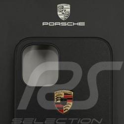 "Porsche hard case for iPhone 12 Mini (5.4"") Black Leather WAP0300140MSOC"