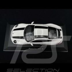 Porsche 911 R type 991 White with black stripes 2016 1/43 Minichamps 940066220