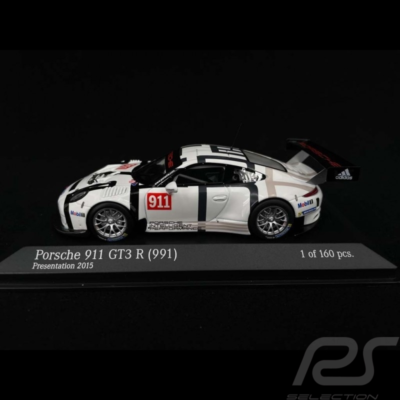 Porsche 911 GT3 R type 991 n° 911 Presentation 2015 1/43 Minichamps 437166691
