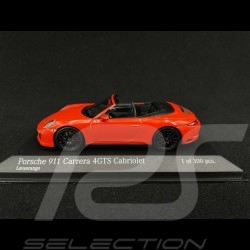 Porsche 911 Carrera 4 GTS Cabriolet type 991 Orange fusion 2016 1/43 Minichamps 410067331