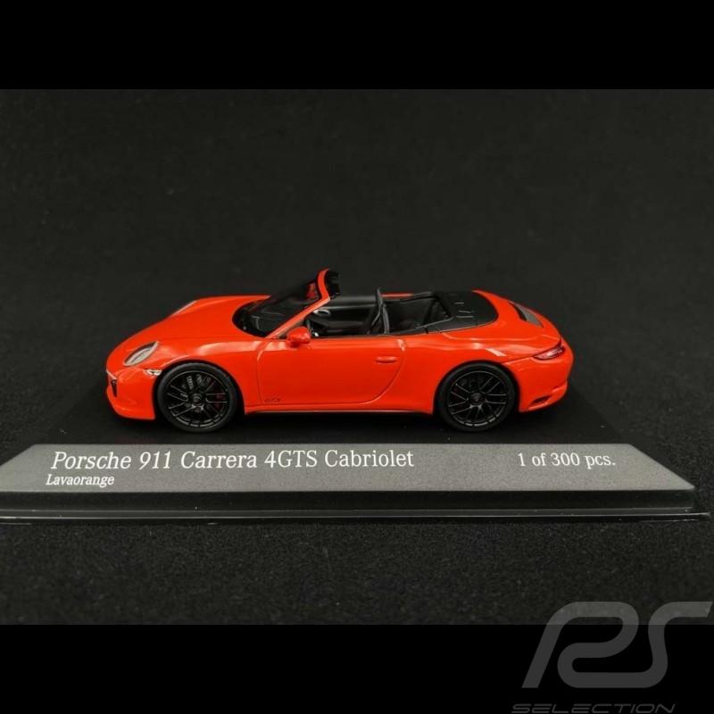 Porsche 911 Carrera 4 GTS Cabriolet type 991 Lava Orange 2016 1/43 Minichamps 410067331