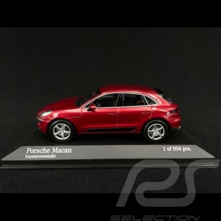Porsche Macan Impulse Rouge métallisé 2013 1/43 Minichamps 410062600