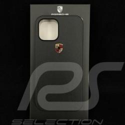 "Porsche hard case for iPhone 12 Pro Max (6.7"") black leather WAP0300180MSOC"