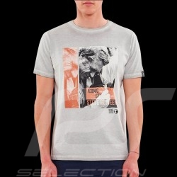 T-shirt Steve McQueen Photographer Gris Washed - homme
