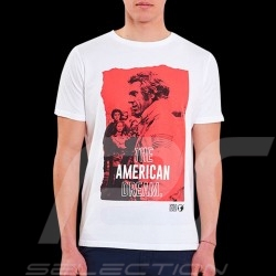 Steve McQueen T-shirt Le Mans American dream White - Men