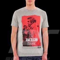 T-shirt Steve McQueen Le Mans American dream Gris - homme