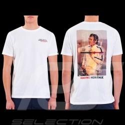 Steve McQueen T-Shirt Le Mans Racing Heritage 1971 Weiß - Herren