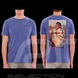 Steve McQueen T-shirt Le Mans Racing Heritage 1971 Lavender blue - Men