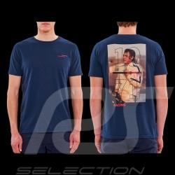 Steve McQueen T-Shirt Le Mans Racing Heritage 1971 Marineblau - Herren