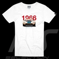T-shirt Ford GT40 Le Mans 1966 Racing is life Blanc - homme