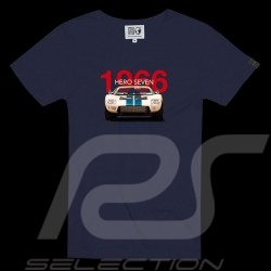 T-shirt Ford GT40 Le Mans 1966 Racing is life Bleu marine - homme