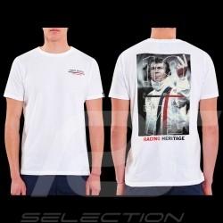 Steve McQueen T-Shirt The Man Le Mans Racing Heritage 1971 Weiß - Herren