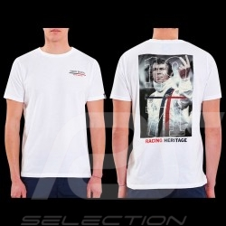 T-shirt Steve McQueen The Man Le Mans Racing Heritage 1971 Blanc - homme