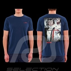 Steve McQueen T-Shirt The Man Le Mans Racing Heritage 1971 Marineblau - Herren