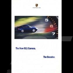 Porsche Broschüre The New 911 type 996 Carrera The Boxster 1998 USA