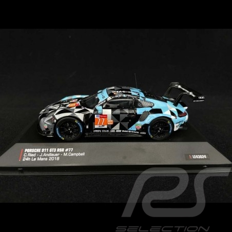 Porsche 911 GT3 RSR type 991 Dempsey Proton Racing n° 77 24H Le Mans 2018 1/43 IXO LE43024