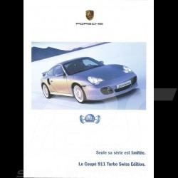 Porsche Broschüre Le Coupé 911 type 996 Turbo Swiss Edition (sehr selten) 02/2004 in Französisch CH2793