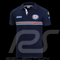Sparco Replica Martini Racing Polo Shirt Navy Blue-  01275MRBM
