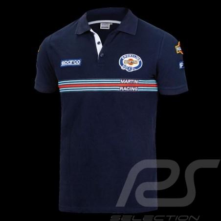 Sparco Replica Martini Racing Polo Shirt Navy Blue-  01275MRBM