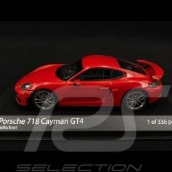 Porsche 718 Cayman GT4 type 982 2020 Guards red 1/43 Minichamps 410067600
