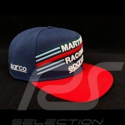 Sparco Cap Martini Racing Marineblau / rot flaches Visier 001282MRBM