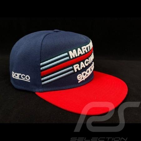 Sparco Cap Martini Racing Navy Blue / red flat visor 001283MRBM