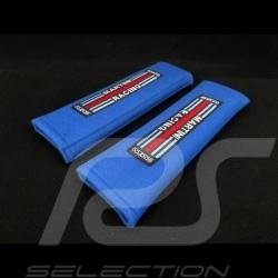 Paire de fourreau de harnais Martini Racing Bleu azur Sparco 01098S3MR seat belt pads Gurtpolster
