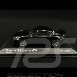 Porsche 718 Cayman GT4 type 982 2020 Noir Black Schwarz 1/43 Minichamps 410067601