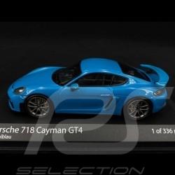 Porsche 718 Cayman GT4 type 982 2020 Miami Blue 1/43 Minichamps 410067602