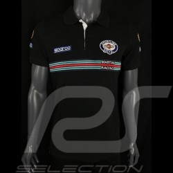 Sparco Replica Martini Racing Polo Shirt Schwarz -  01275MRNR