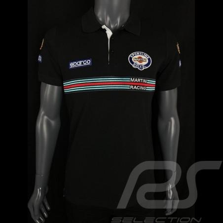 Sparco Replica Martini Racing Polo Shirt Black -  01275MRNR