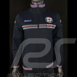 Veste Jacket Jacke Martini Racing Sweatshirt Zippé Bleu marine Sparco 01278MR