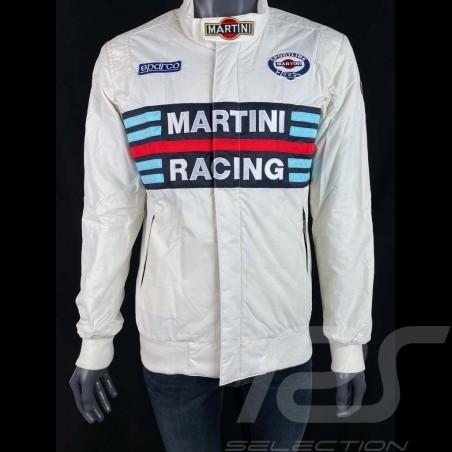 Sparco Martini Racing Team Jacket Bomber design white - men 01281MRBI